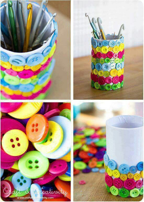 Con Botones Handicrafts Manualidades Pinterest Handicraft