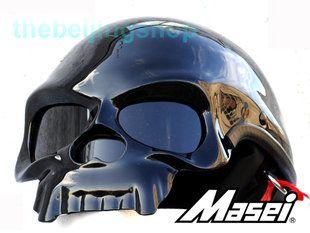 Motorcycle Helmets Dot >> Masei Dot Approved Skull Motorcycle Helmet Gloss Matte Bk