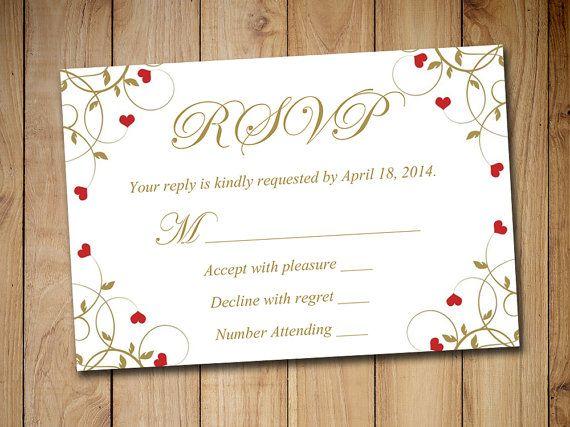rsvp wedding templates