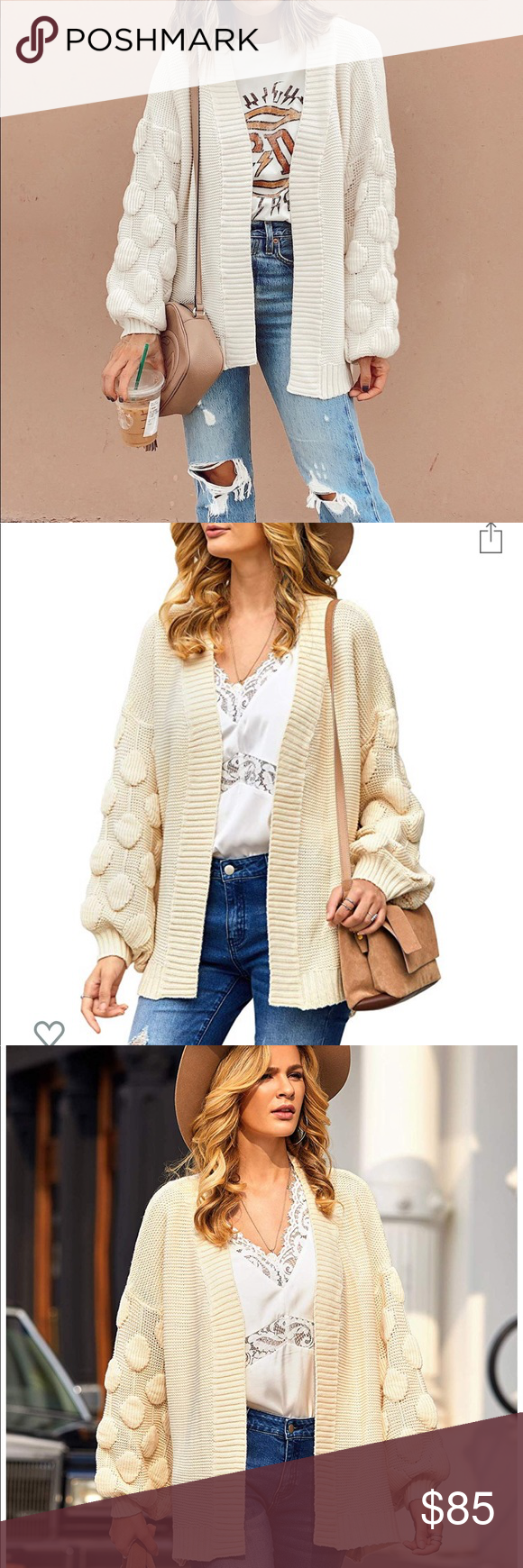 Luxe Boutique Chunky Cardigan Luxe Boutique Chunky Cardigan •brand new luxe boutique item, amazing quality •available in sizes posted •measurements in the chart •beige color Breathable and elastic chunky lightweigh knitted fabric, giving you purely comfy and airy touch. Rebellious Cactus Boutique Sweaters