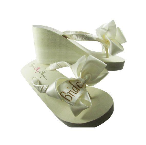 0235722bb86c Bridal Bride Flip Flops Shop our large by BridalFlipFlops on Etsy