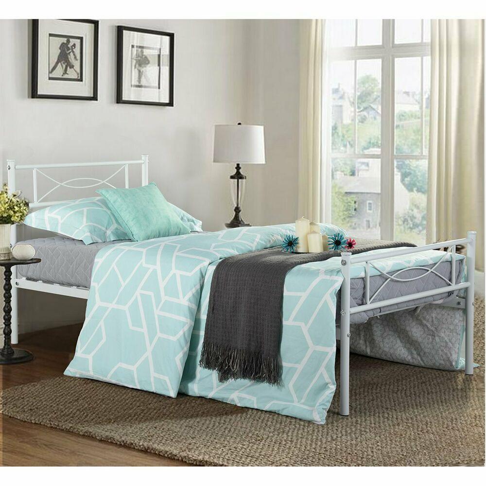 Larkin Gold Metal Full Bed Gold bed, Bed frame, Girls