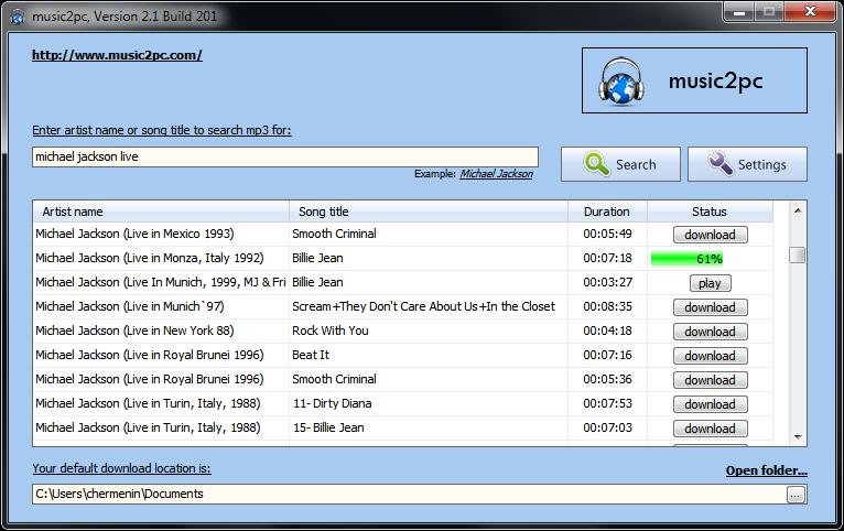 Music download wikipedia.
