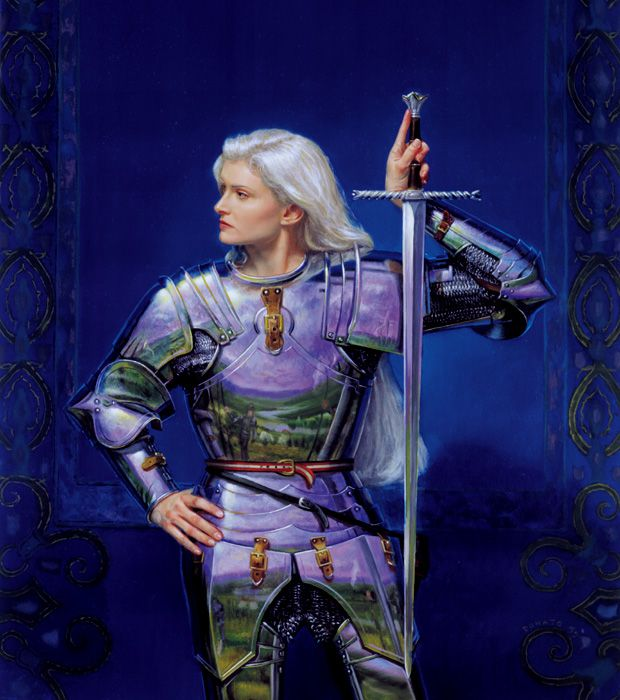 This is Ash, on the cover of Mary Gentle's book, by Donato Giancola