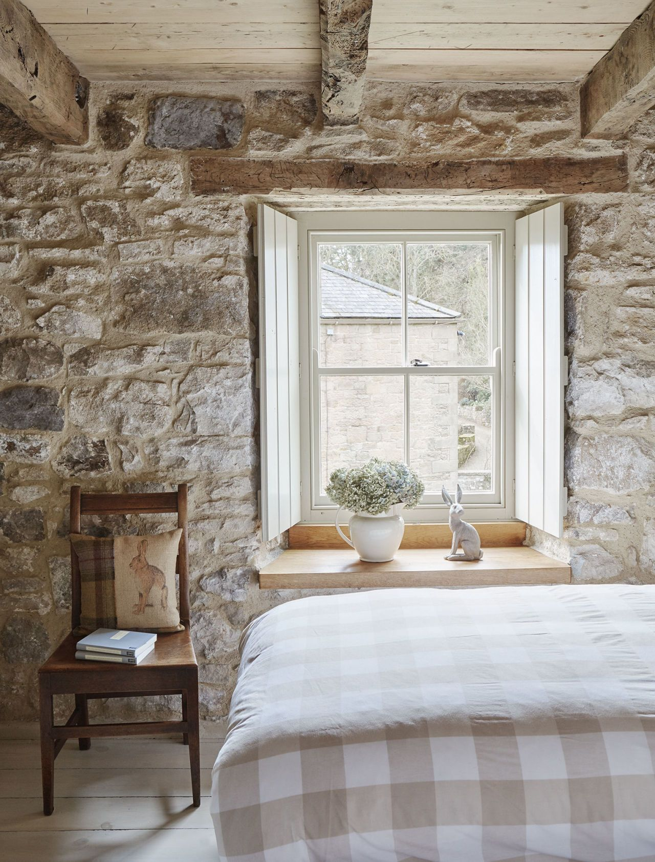 love the thick walls not really the exposed stone deeply recessed windows and