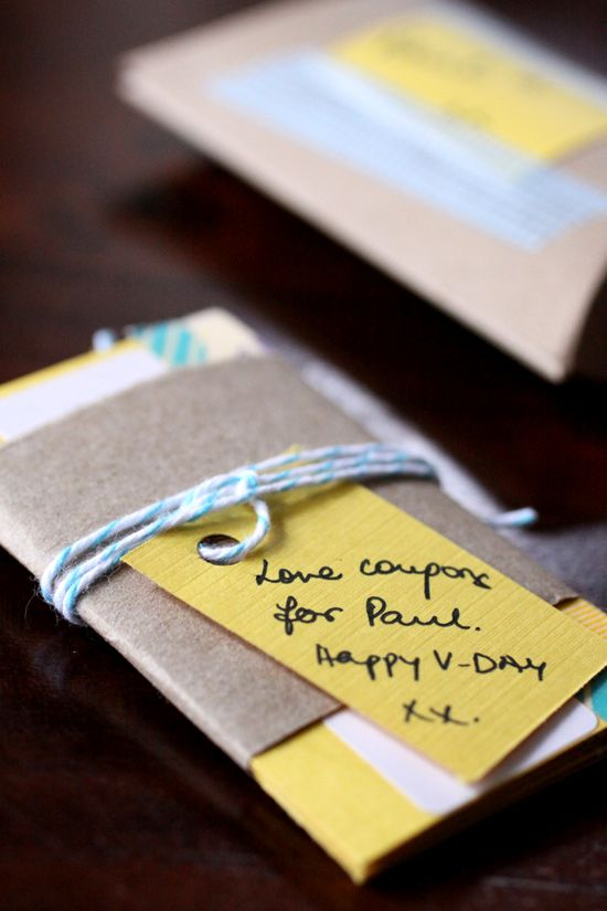 Cute gift for your significant other DIY Pinterest Gift - how to make vouchers