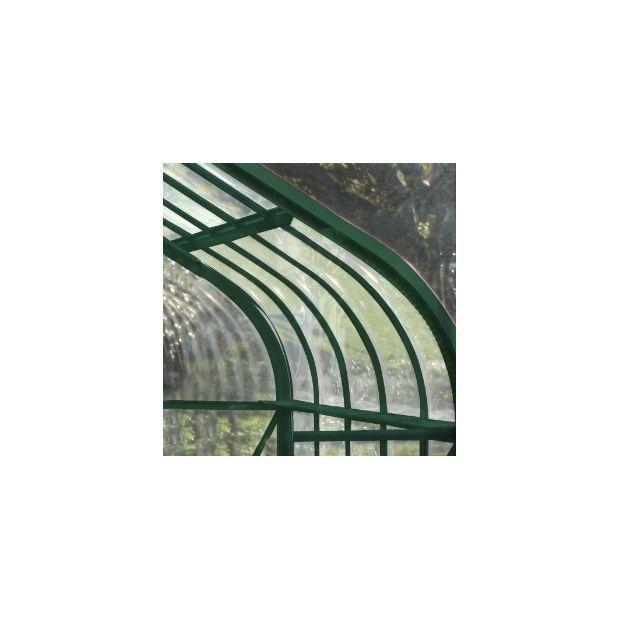 Serre de jardin Supreme verre trempé 11.3m² + embase - Halls ...