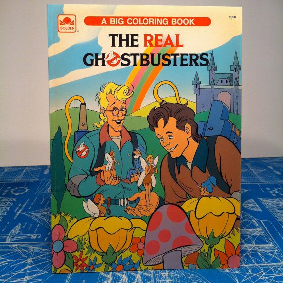 The Real Ghostbusters A Big Coloring Book Unused Golden Book ...
