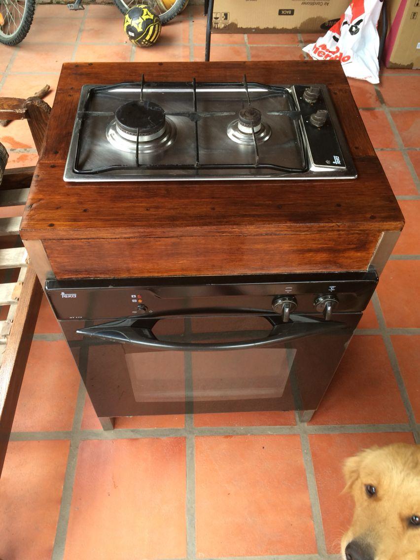 Mueble para anafe y horno de empotrar decoraci n del for Decoracion del hogar facil y economico