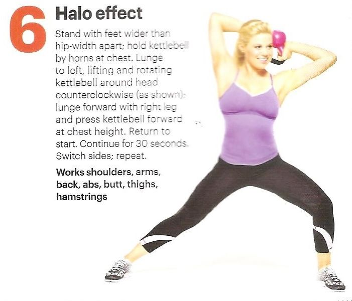 Halo Effect Kettlebell Workout Kettlebell Routines Get Fit