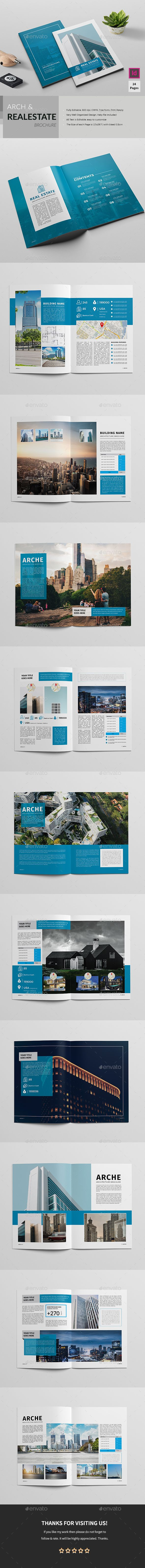 Real EstateArchitecture Brochure  Brochure Template Brochures