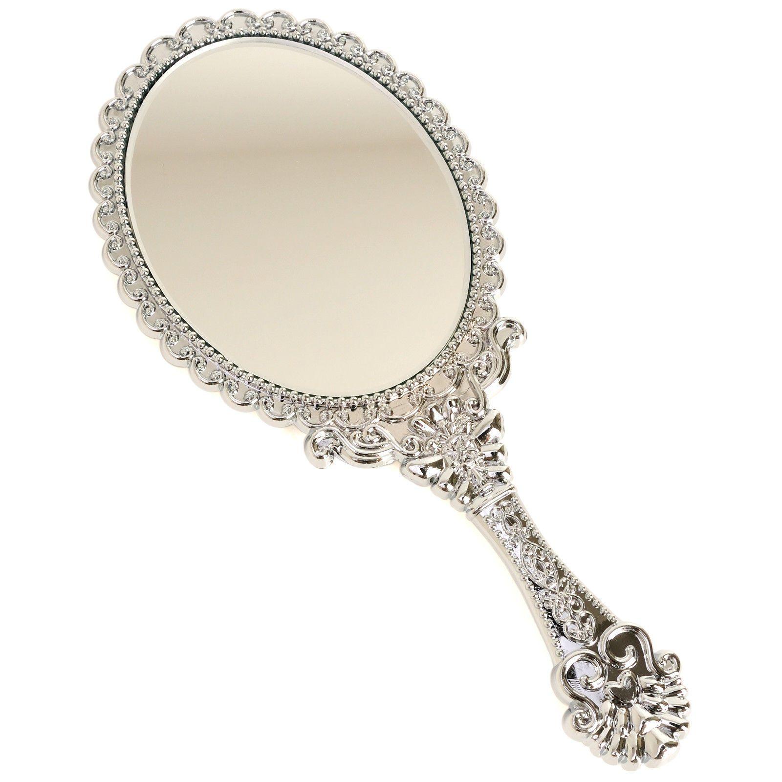 Antique English Hand Held Vanity Mirror Victorian Late 19th Century Handheld Mirror Hand Mirror Vanity Mirror