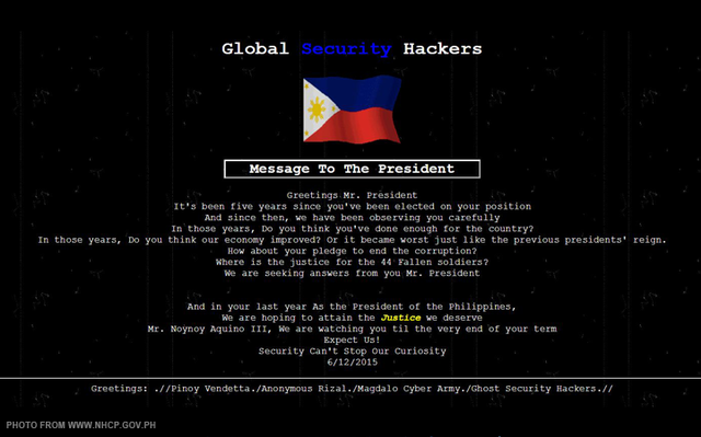 The #NHCP website has been hacked as the country celebrates