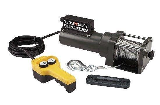1500 lb Capacity 120 Volt AC Electric Winch 35 Foot Cable ...