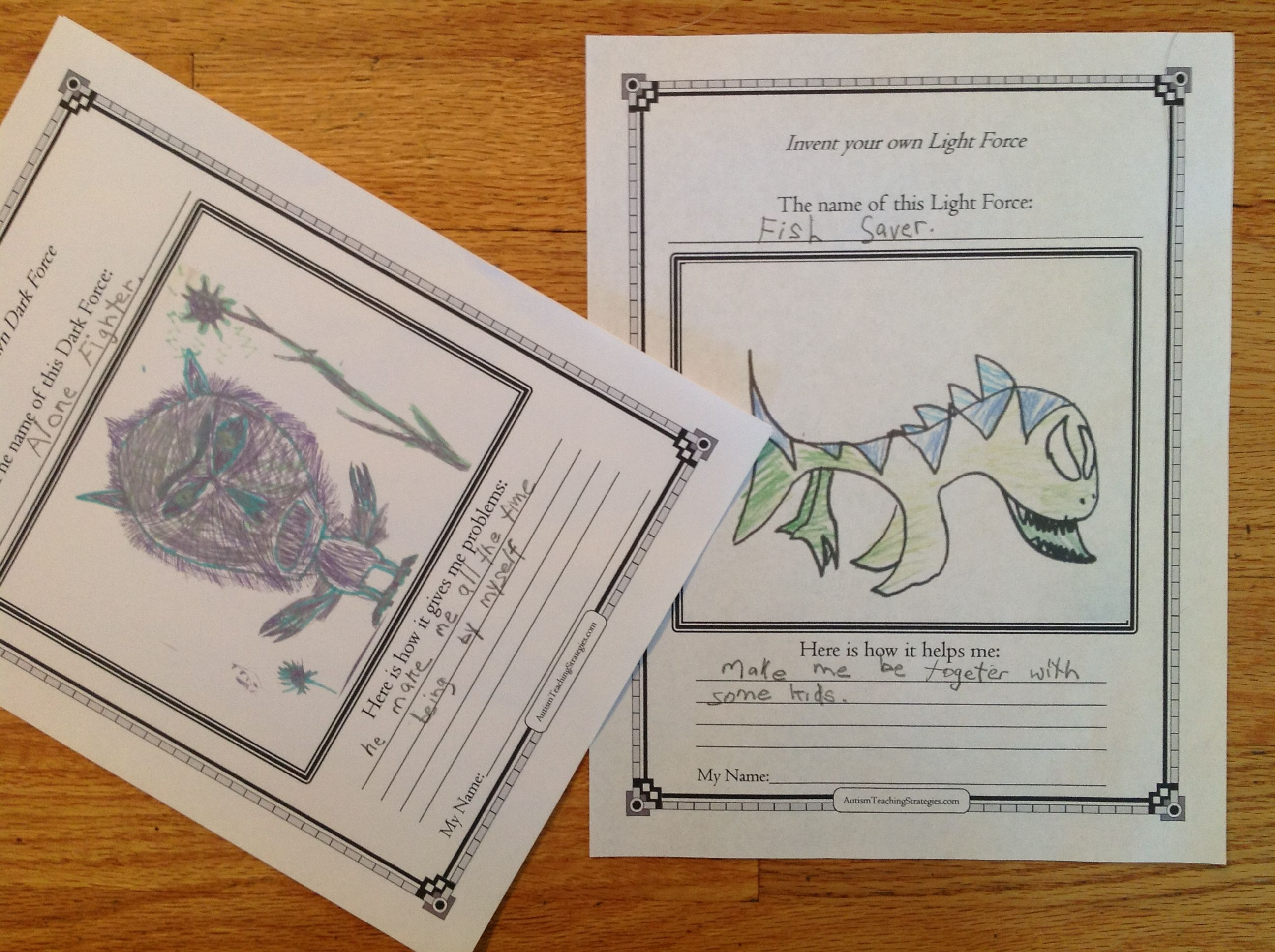 Social Skills Drawing Activity For Children With Asd