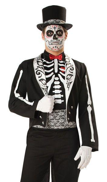 0043c5f602f Dead Day Skeleton Groom Tuxedo Costume PLUS SIZE 3X  InCharacter ...
