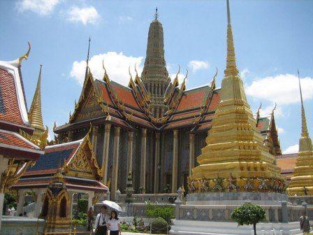 Templo del Buda Esmeralda o Wat Phra Kaew en Bangkok.