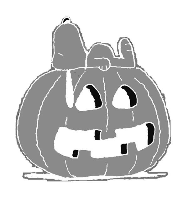 graphic regarding Peanuts Pumpkin Printable Carving Patterns named Peanuts - Snoopy jack o lantern Totally free Halloween pumpkin