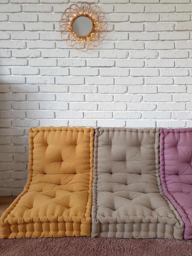 French mattress, floor cushion, quilted mattress, pillow