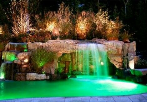 waterfall pool - Cool Pools With Waterfalls In Houses