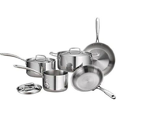 tramontina gourmet 8-piece 18/10 stainless steel tri-ply clad