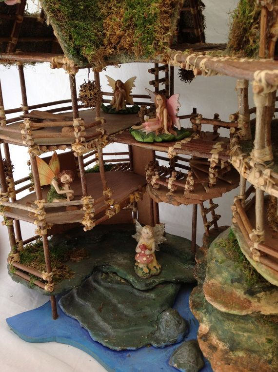 Fairy doll house kits beginners this kit teaches you for Magic cabin tree fort kit