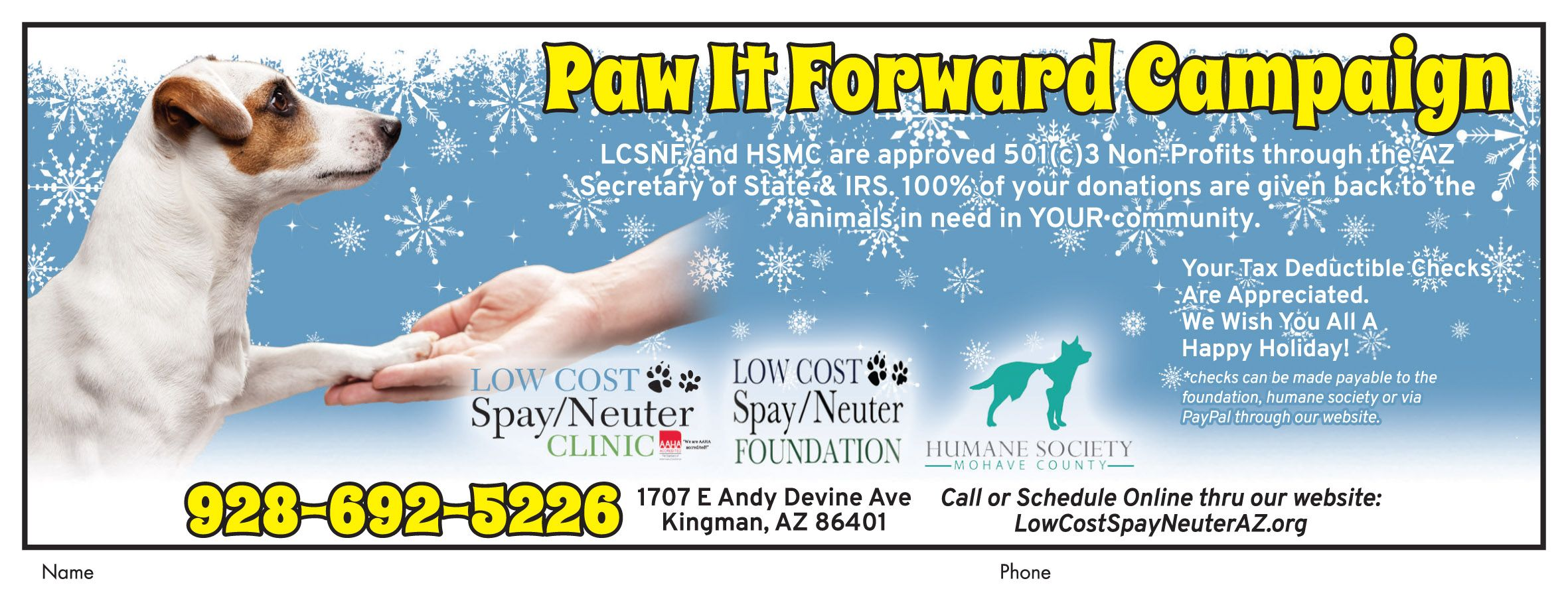 pawitforward at low cost spay/neuter clinic this year. donate before