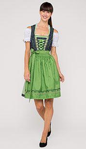 C&A Dirndl in grün   Dirndl trachten, Dirndl, Moderne kleidung