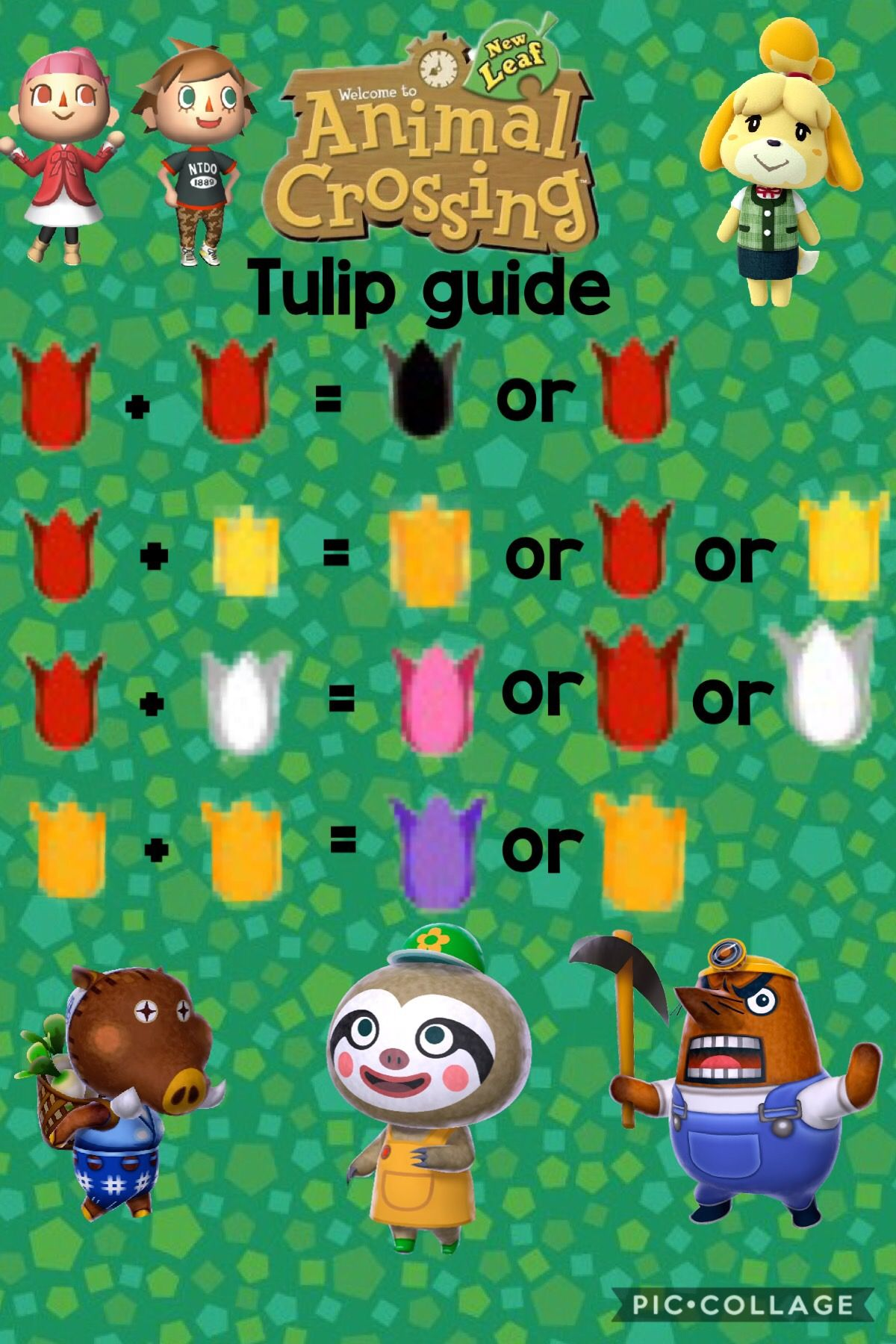 Animal Crossing New Leaf Flower Guide Tulip Inspiration Animal