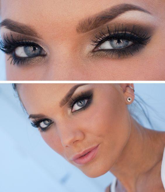Image result for smokey eye wedding makeup blue eyes   Makeup ...