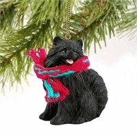 Pomeranian Tiny One Christmas Ornament Black: Deck your halls and trim your tree with this sweet and… #PetProducts #PetGifts #AnimalJewelry