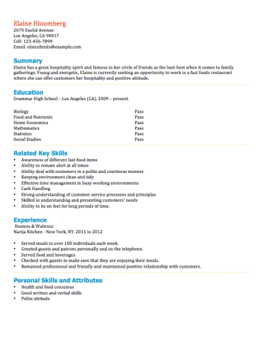 Resume Examples For Teens Resume Templates Student Resume Student Resume Template High School Resume Template