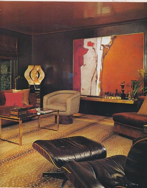 70s living room furniture 70 yellow log in 1970s furniture1970s living room modern 70s 1978 architectural digest design eleanor ford