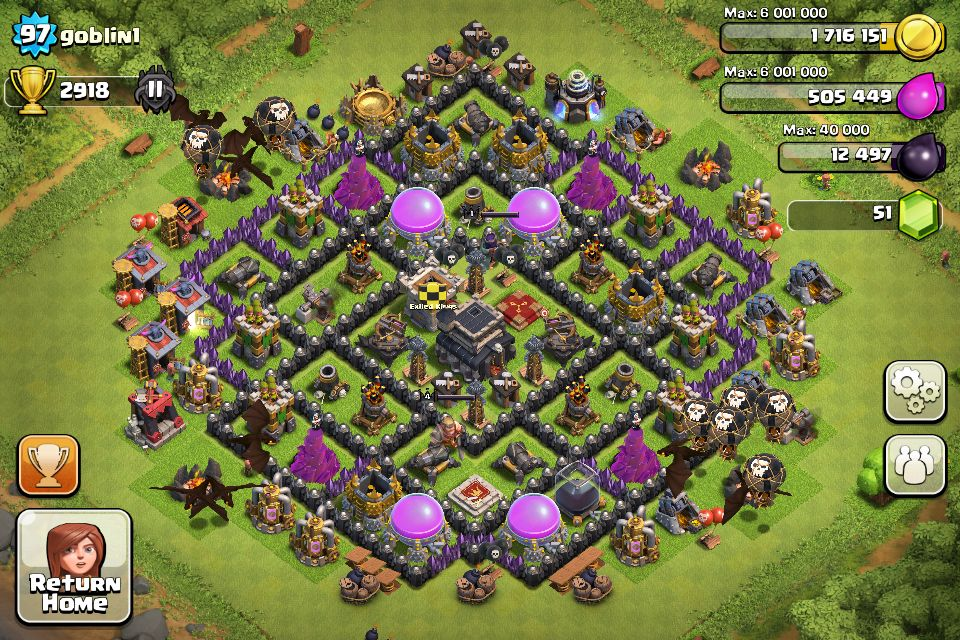 Top 10 Clash Of Clans Town Hall Level 7 Defense Base Design Pictures ... |  Clash of clans, Clash of clans game, Picture design