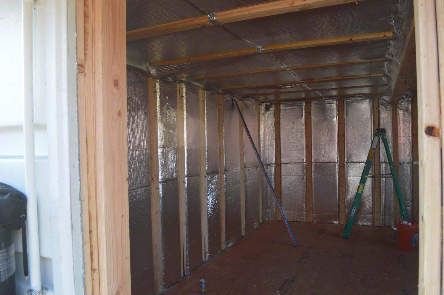 Once The Drywall Is Up This Reflective Foil Insulation Will Wiring A Metal Building Continue Blocking Radiant Heat Transfer