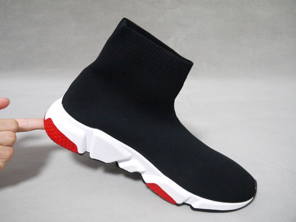 f5f133d5658064 (506335-W05G0-1000) SIZE 8 US Balenciaga Speed Trainer Mid  Black Red  2018   fashion  clothing  shoes  accessories  mensshoes  athleticshoes (ebay link)