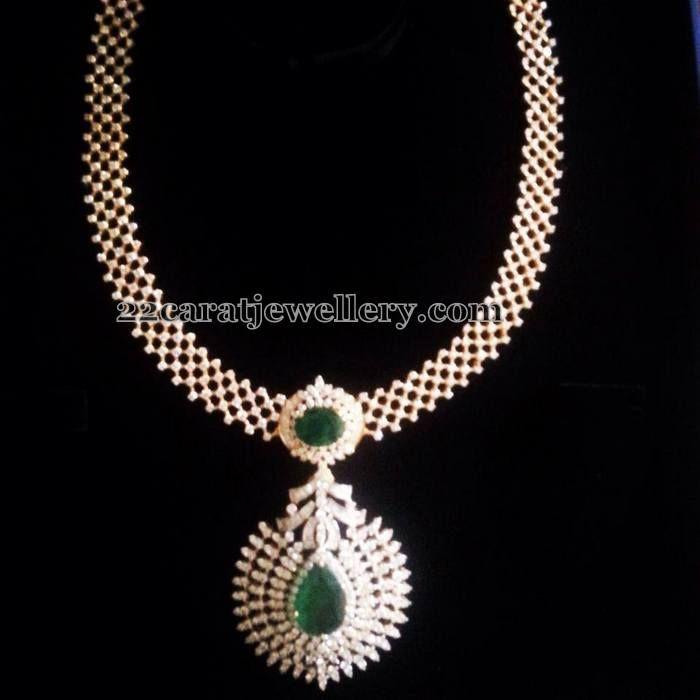 Detachable Diamond Necklace Jewellery Designs Diamond Pendant