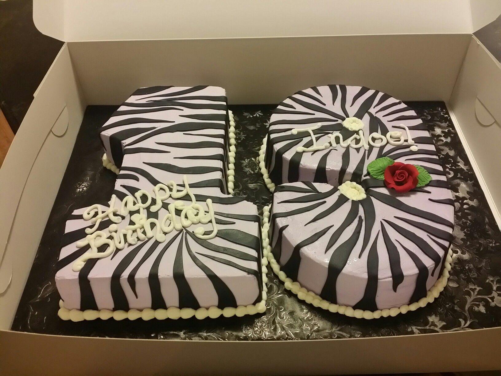 Cake Birthday Homemade Zebra