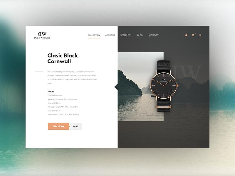 Daniel Wellington Watches Product Page Concept Web Design Mobile Web Design Website Inspiration