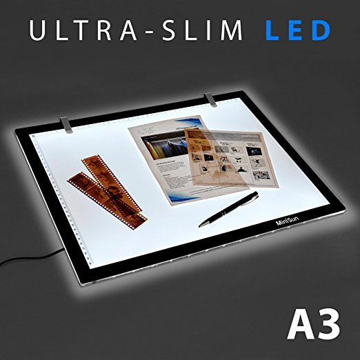 Minisun Tablette Lumineuse Led Retro Eclaire Graphique Ultra Plate Format A3 Table Lumineuse Led Format A3