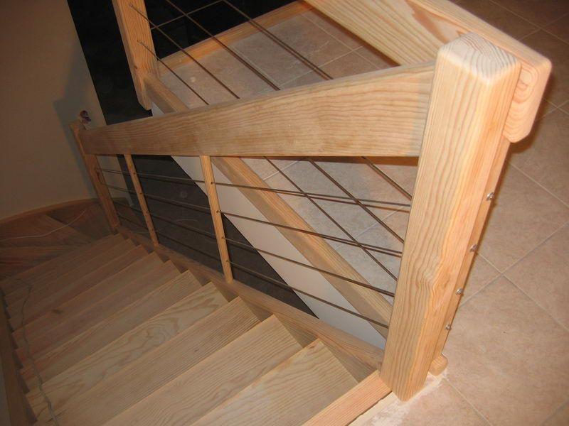 05 03 escalier 1 4 tournant rampe c ble inox espace bois id e pour l 39 escalier pinterest. Black Bedroom Furniture Sets. Home Design Ideas