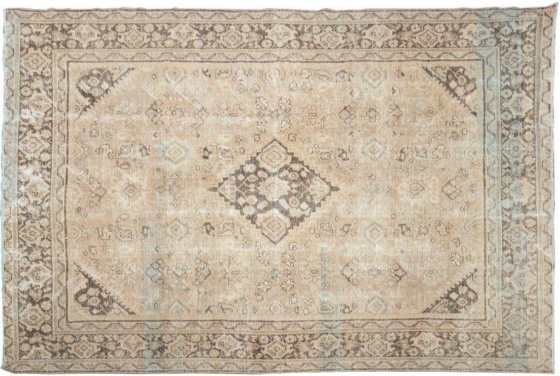 8x10 Vintage Neutral Rug Mahal Rug Oriental Rug neutral