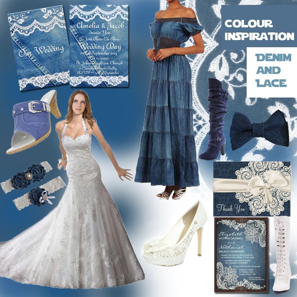 Colour theme inspiration denim and lace australian wedding ideas