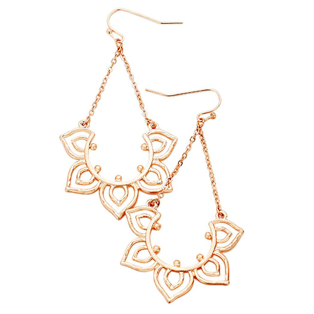 ad361030574da1 Stunning Summer Sun Rose Gold Dangle Earrings | Products | Earrings ...