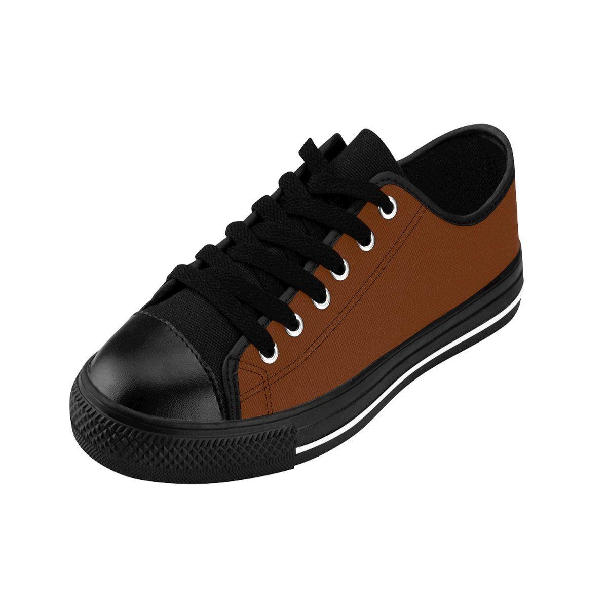 b284ac6d32b5 Sanyo Caramel Brown Solid Color Designer Low Top Women s Sneakers –  heidikimurart
