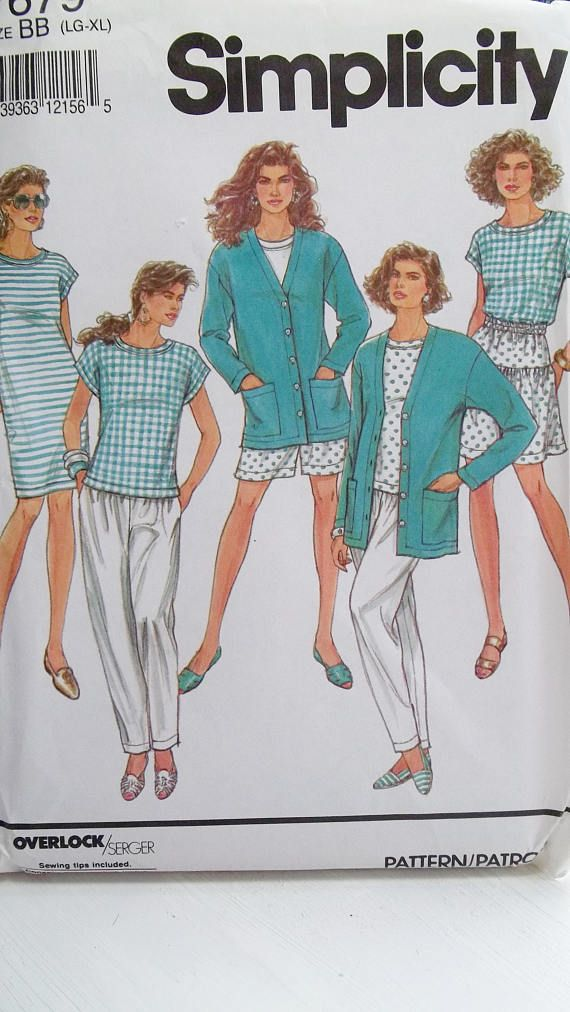 Plus Size Stretch Knit Wardrobe Simplicity 7679 Sewing Pattern