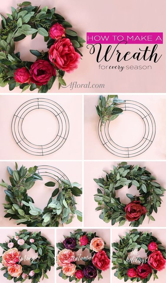 Photo of How to make a silk flower wreath