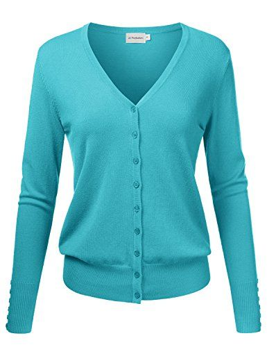 a32b222a07a Women s Cardigans - JJ Perfection Womens VNeck Button Down Long Sleeve Knit Cardigan  Sweater    Visit the image link more details.