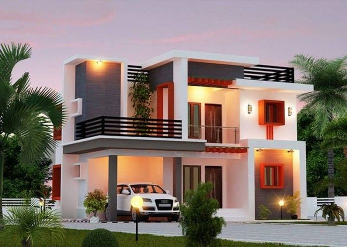 Modern House Front Designs Pictures Gallery   House And Home Design