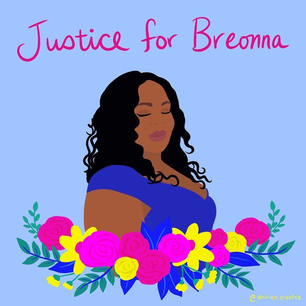 Color Of Change On Instagram Sayhername Breonnataylor Thank You Shirien Creates For Creating This Beautiful In 2020 Breonna Taylor Black Lives Killed By Police